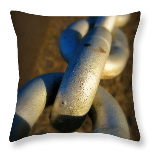 Linked Throw Pillow by Perry Webster