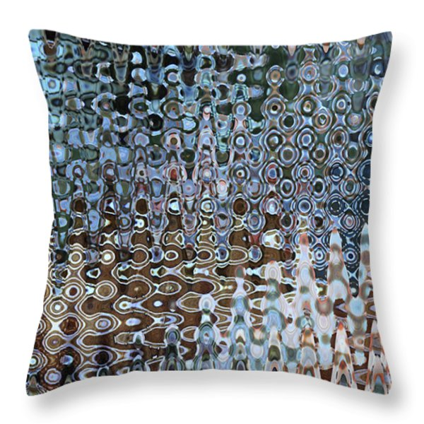 Lionfish Abstract Throw Pillow by Carol Groenen