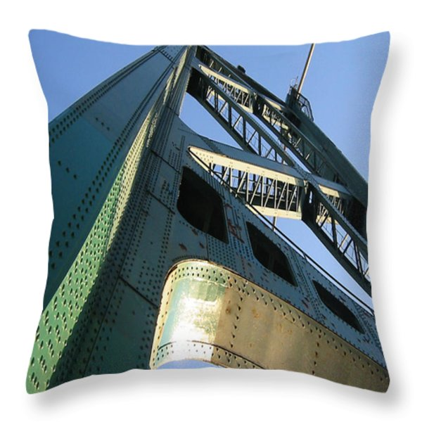 Lions Gate Bridge  Throw Pillow by Joseph G Holland