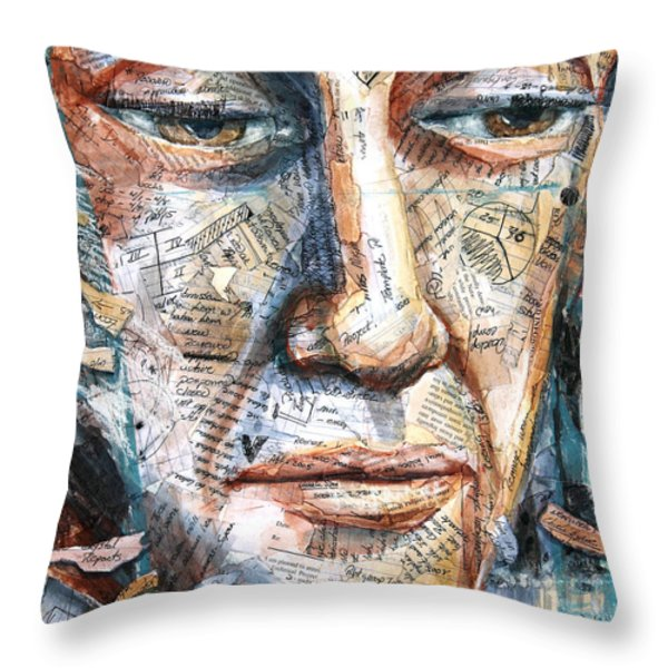 Listperson II Throw Pillow by Patricia Allingham Carlson