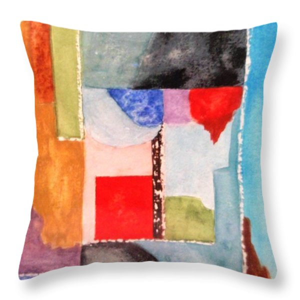 Little Abstract Throw Pillow by Jamie Frier