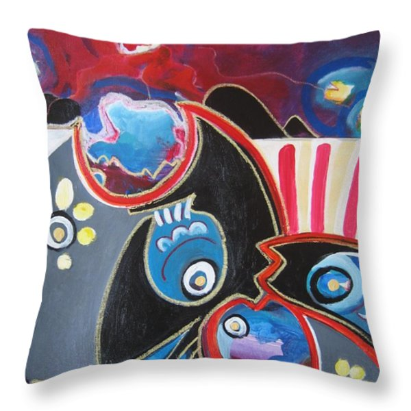Little Bearing Throw Pillow by Seon-Jeong Kim