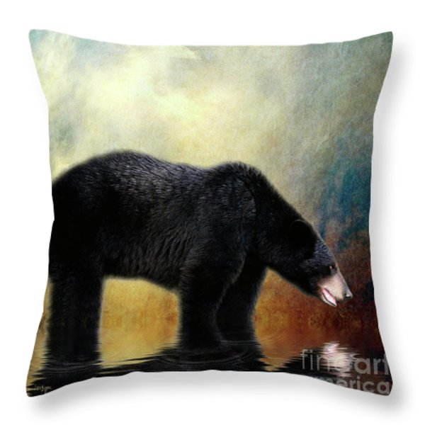 Little Boy Lost Throw Pillow by Lois Bryan