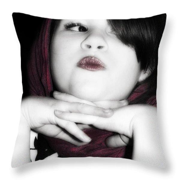 Little Diva Throw Pillow by Lisa Knechtel