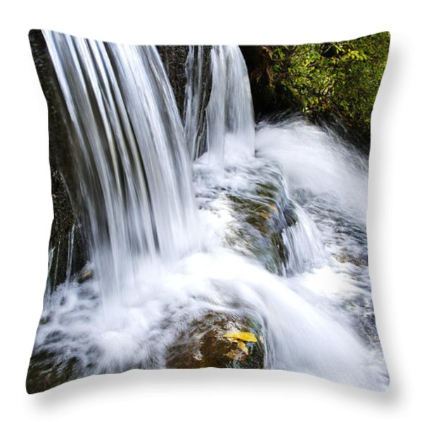 Little Elbow Waterfall Throw Pillow by Thomas R Fletcher