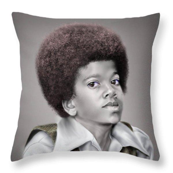 Little Michael Throw Pillow by Reggie Duffie