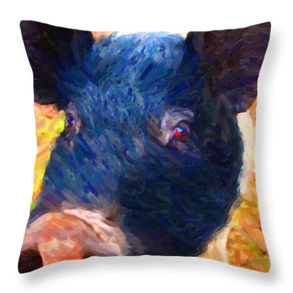 Little Miss Piggy Throw Pillow by Wingsdomain Art and Photography