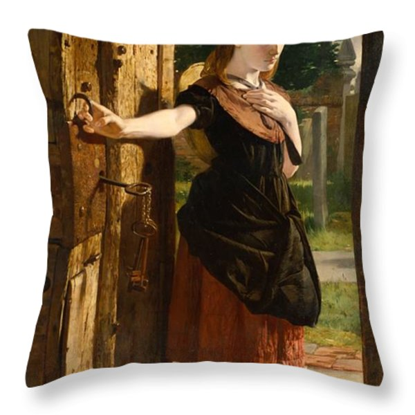 Little Nell Leaving The Church Throw Pillow by James Lobley