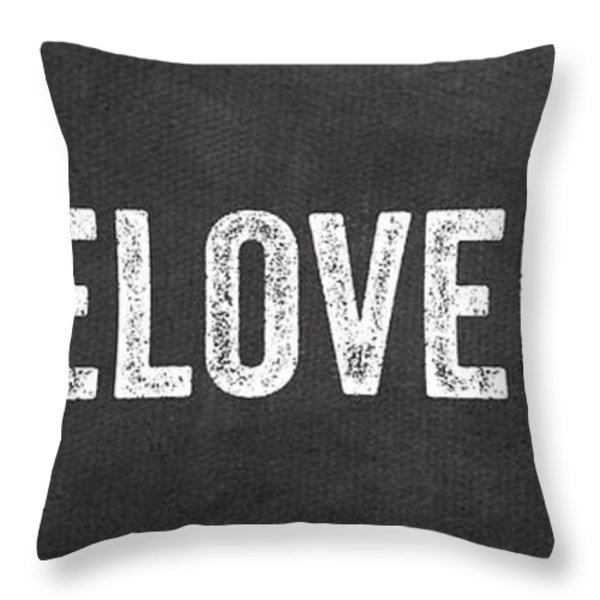 Live Love Bake Throw Pillow by Linda Woods