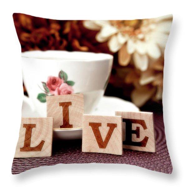 Live Throw Pillow by Tom Mc Nemar