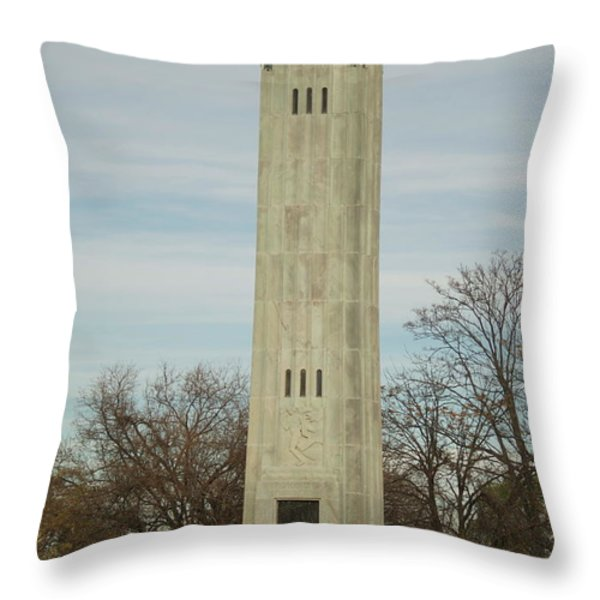 Livingstone Memorial Light Throw Pillow by Michael Peychich
