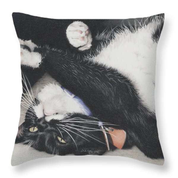 Lizzie - Cant Resist The Cuteness Throw Pillow by Amy S Turner