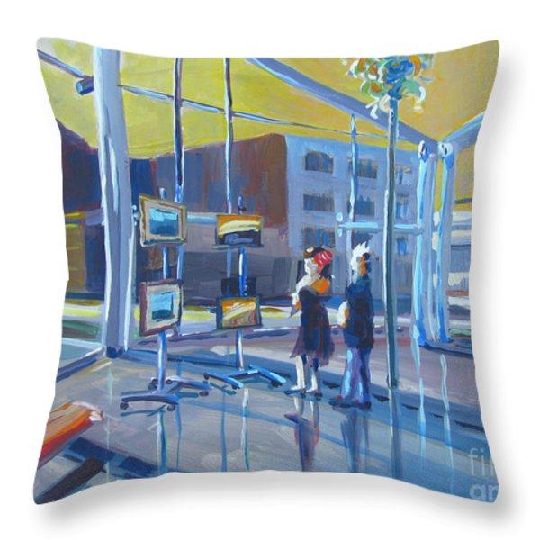 Lobby Gallery Throw Pillow by Vanessa Hadady BFA MA