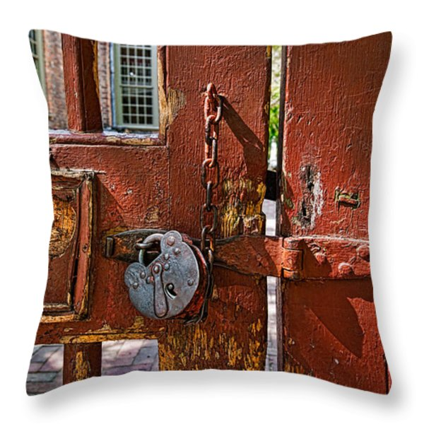Locked Gate Throw Pillow by Christopher Holmes
