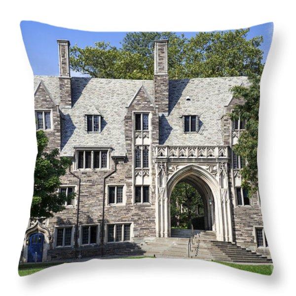 Lockhart Hall Princeton  Throw Pillow by John Greim