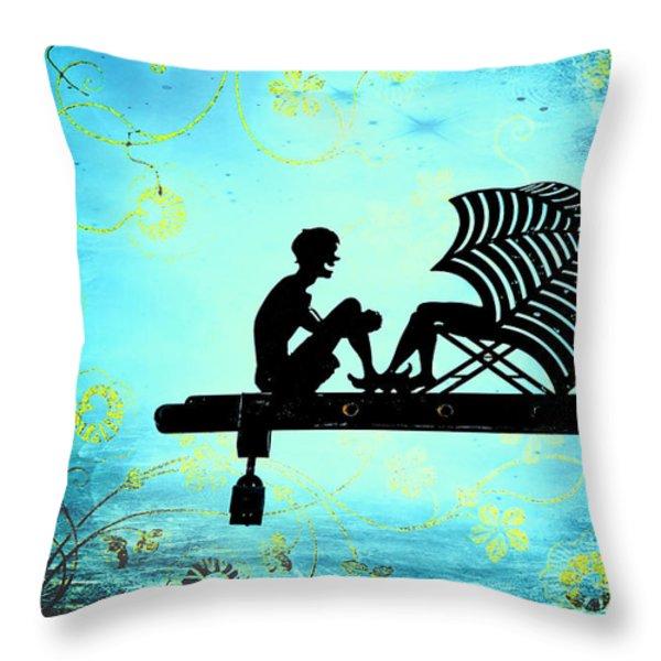 Locks of Love Throw Pillow by Evelina Kremsdorf