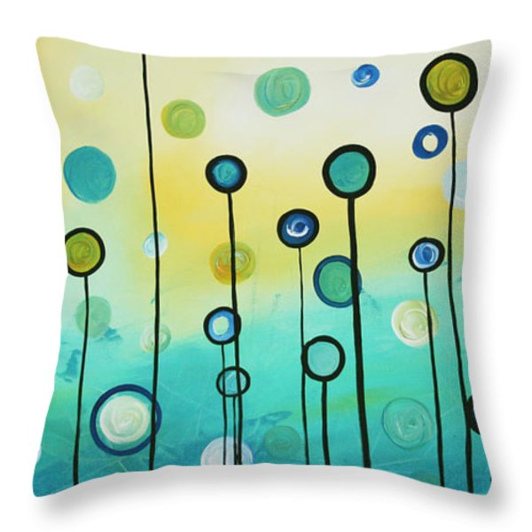 Lollipop Field By Madart Throw Pillow by Megan Duncanson