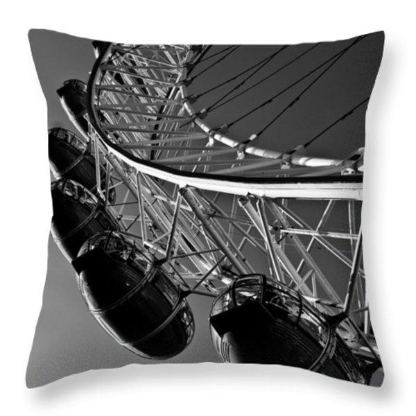London Eye Throw Pillow by David Pyatt