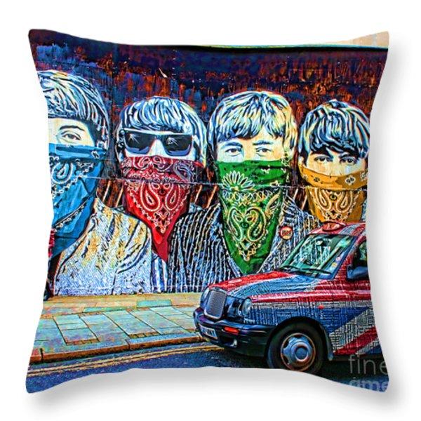 London Street Throw Pillow by Jasna Buncic