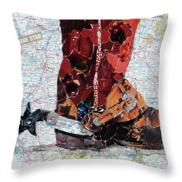 Lone Star Spur Throw Pillow by Suzy Pal Powell