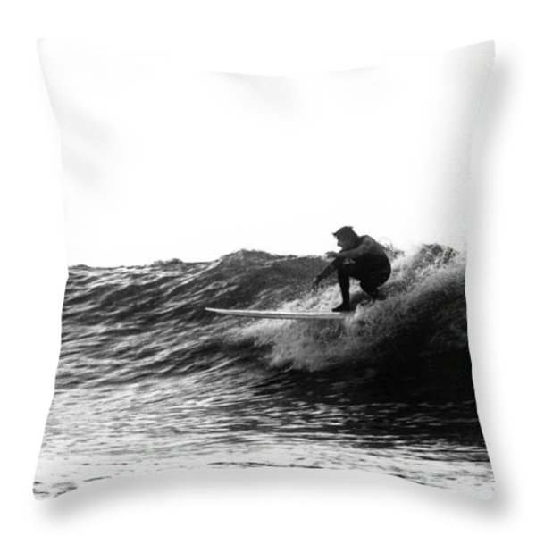 Longboard Throw Pillow by Rick Berk
