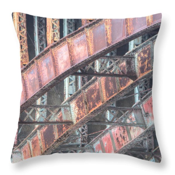 Longfellow Bridge Arches I Throw Pillow by Clarence Holmes