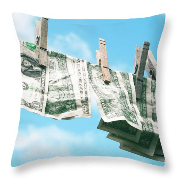 Look How Much A Dollar Buys Throw Pillow by Sharon Mau