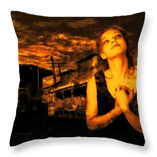 Lord Let Him Come Home From Iraq Throw Pillow by Jeff Burgess