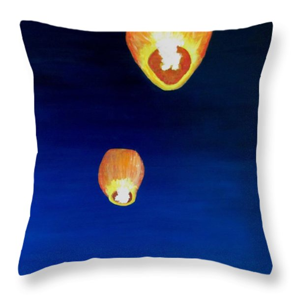 Lorraine's Lanterns Throw Pillow by Jack Skinner