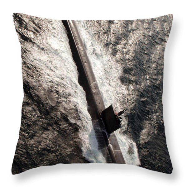 Los Angeles-class Submarine Uss Throw Pillow by Stocktrek Images