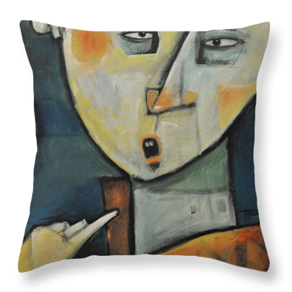 Losing Ones Voice Throw Pillow by Tim Nyberg