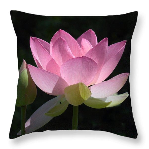 Lotus Bud--Snuggle Bud DL005 Throw Pillow by Gerry Gantt