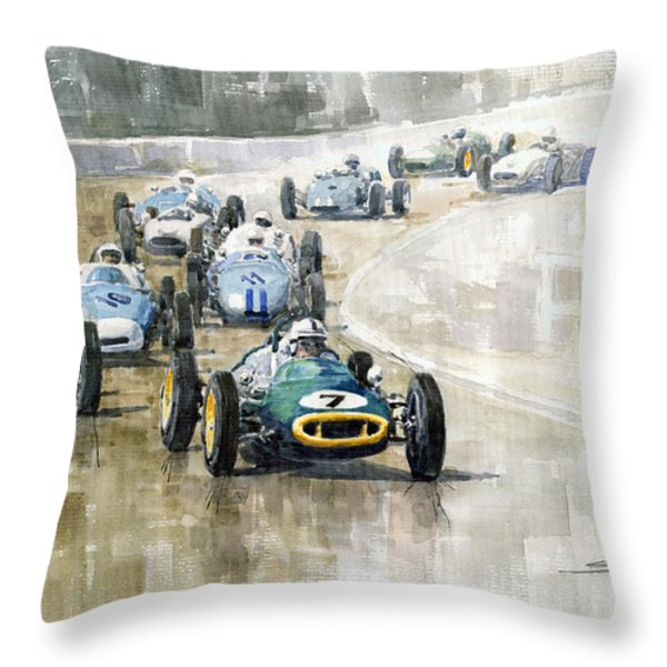 Lotus GP Throw Pillow by Yuriy  Shevchuk