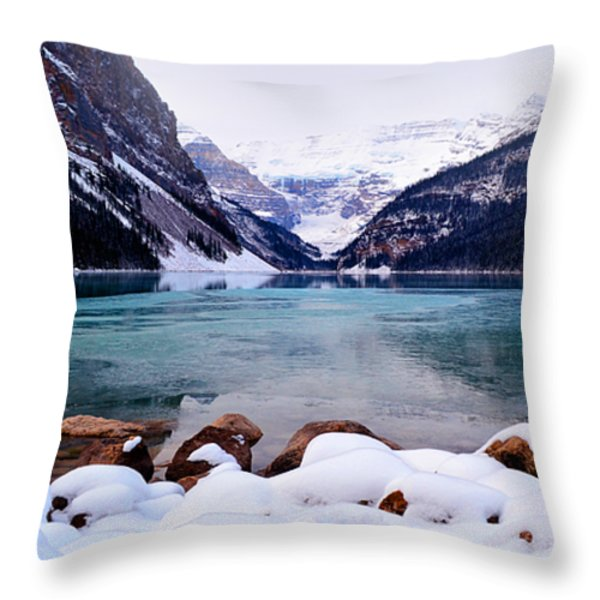 Louise Ice Throw Pillow by Andrea Hazel Ihlefeld