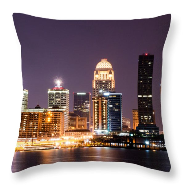 Louisville 1 Throw Pillow by Amber Flowers