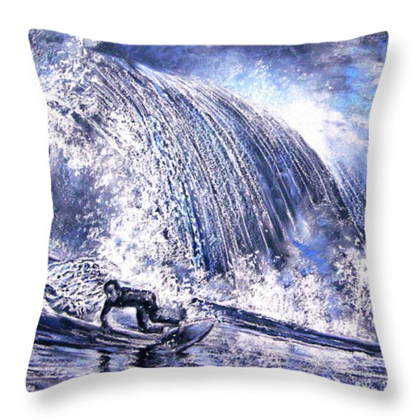 Love Is The Seventh Wave Throw Pillow by Miki De Goodaboom