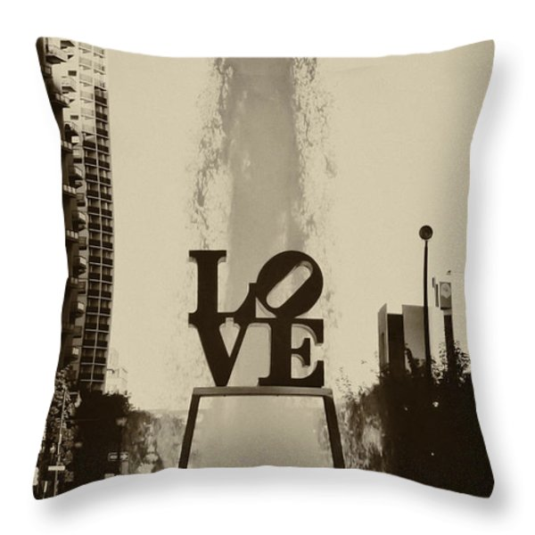Love Love Love Throw Pillow by Bill Cannon
