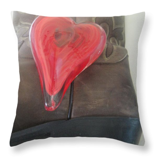 Love My Boots Throw Pillow by WaLdEmAr BoRrErO