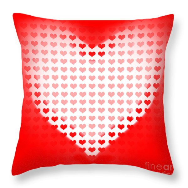 Love Of Valentines Background. Big Red Heart Throw Pillow by Ryan Jorgensen