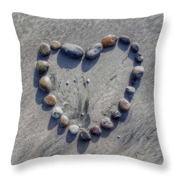 Love On The Rocks Throw Pillow by Jane Linders