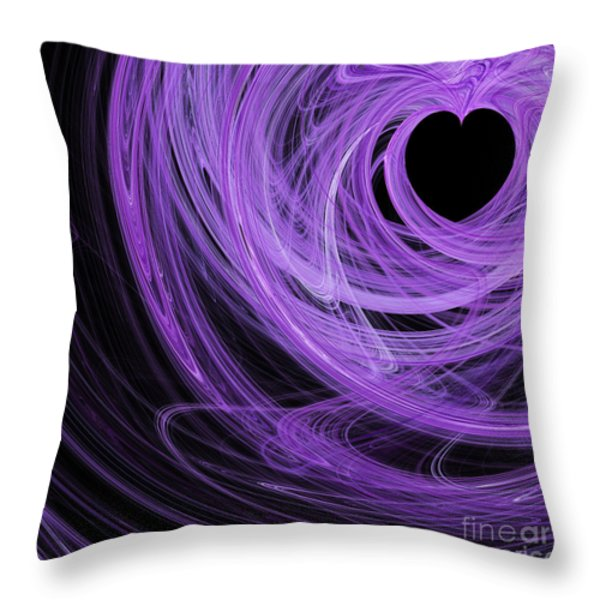 Love Swirls . Square . A120423.689 Throw Pillow by Wingsdomain Art and Photography