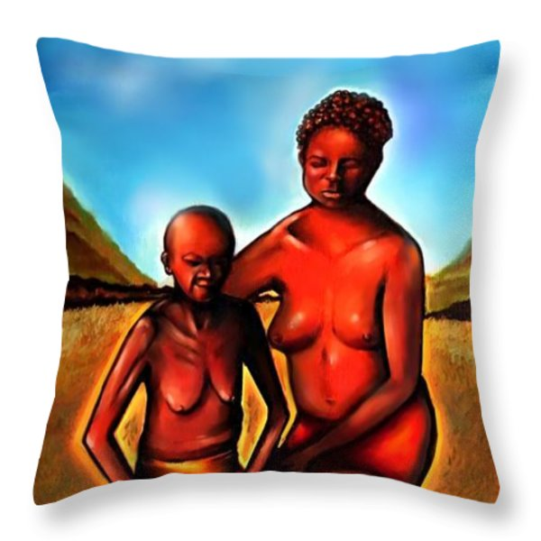Love Thy Mother Throw Pillow by Carmen Cordova