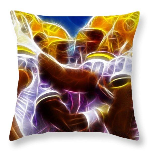 LSU Magical Throw Pillow by Paul Van Scott