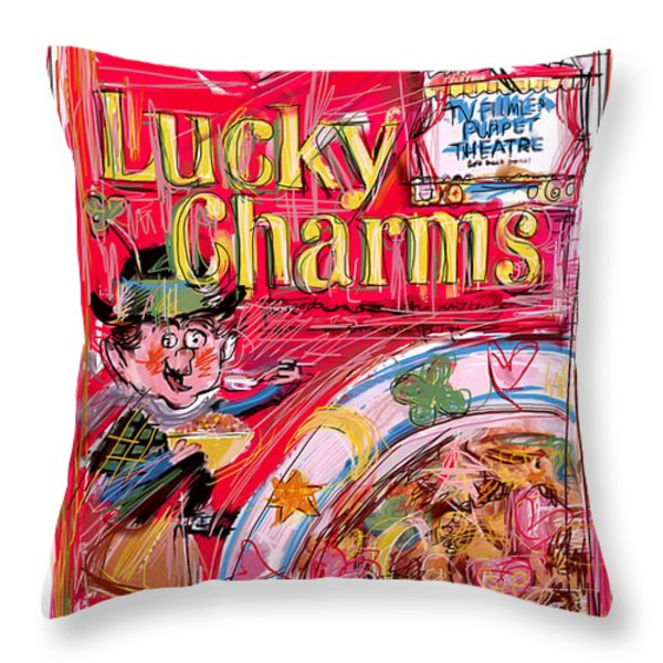 Lucky Charms Throw Pillow by Russell Pierce