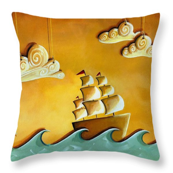 Lullaby Bay Throw Pillow by Cindy Thornton
