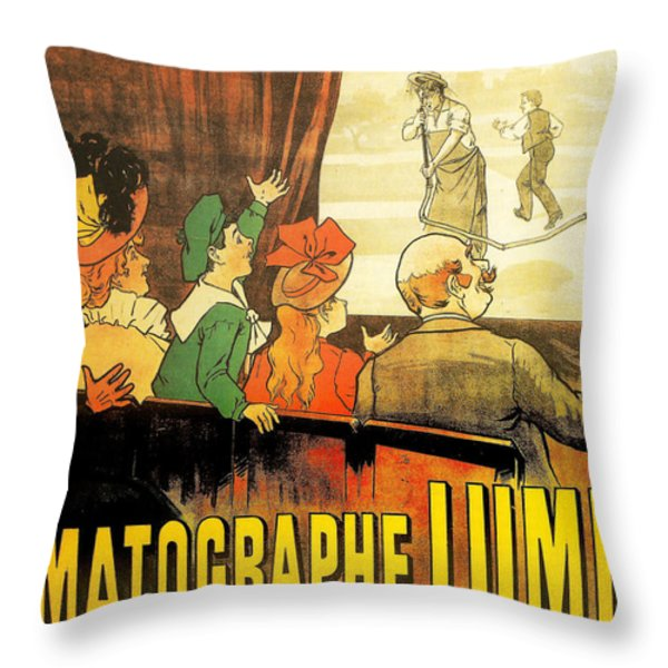 Lumiere Cinematographe Throw Pillow by Georgia Fowler