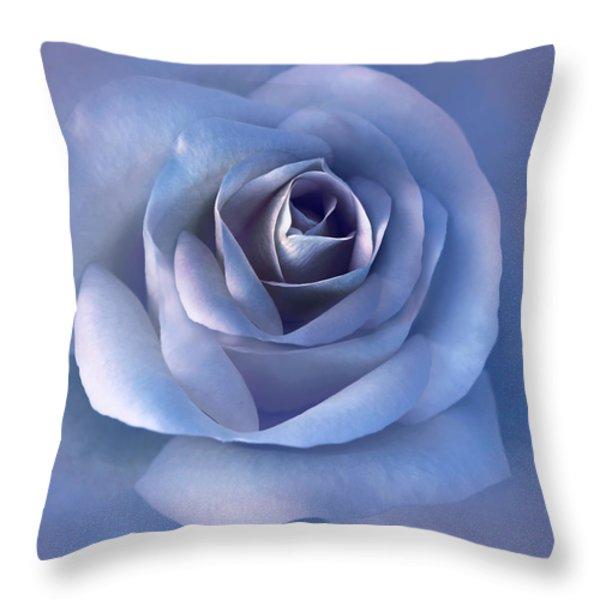 Luminous Lavender Rose Flower Throw Pillow by Jennie Marie Schell