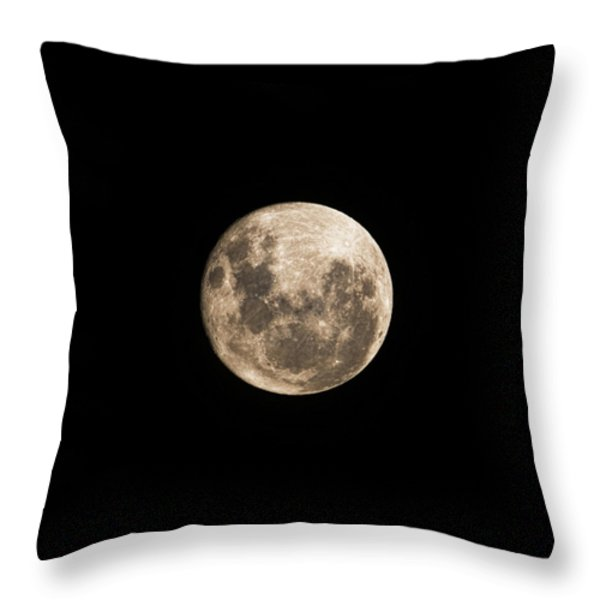 Lunar Perigee Throw Pillow by Andrew Paranavitana