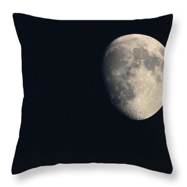 Lunar Surface Throw Pillow by Angela Rath