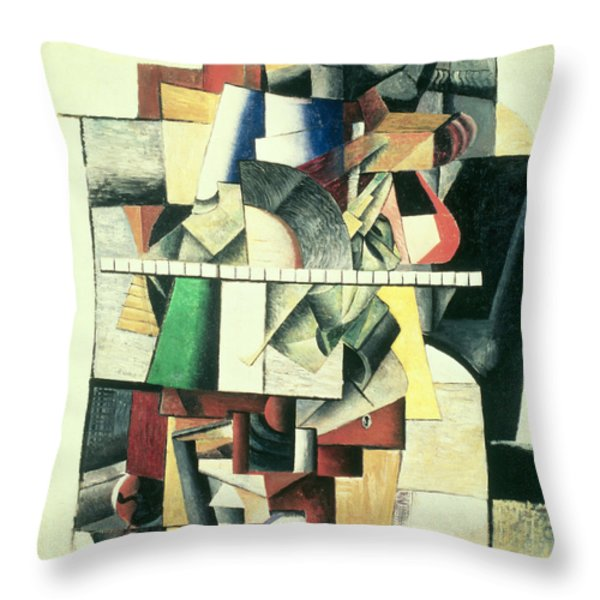 M Matuischin Throw Pillow by Kazimir Severinovich Malevich